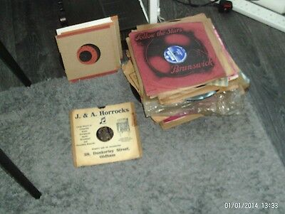 """78's records collection-job lot-57 number-all 10 """" mixed genre from period"""
