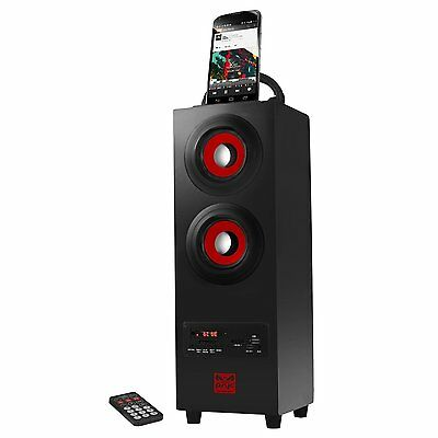 Wireless Bluetooth Tower Speaker UBS Phone Dock Charger Radio Remote Control
