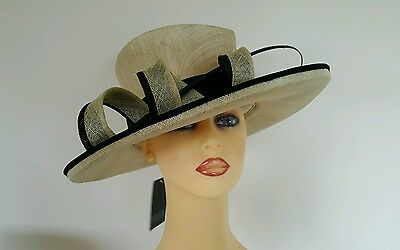 Ladies Occasion Formal Wedding Races Mother Bride Hat  by Gold New with Tags