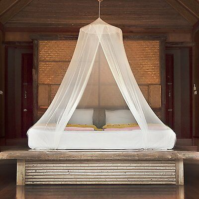 Hanging Mosquito Bed Net Bug Screen Canopy for Camping Glamping & Home Decor