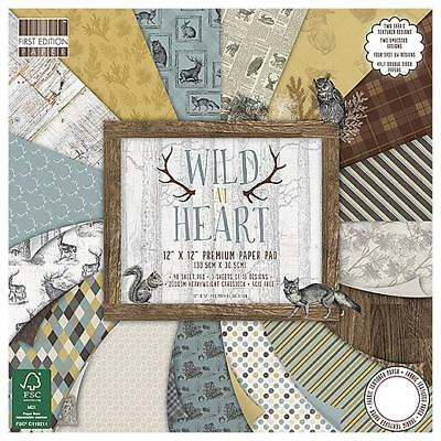First Edition Wild At Heart Premium Paper Pad - 12x12 FEPAD134