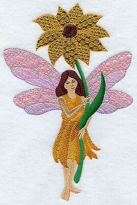 Finished Embroidery Yellow Flower Fairy