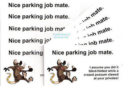 Parking Cards #2 for HOLDEN, FORD, TOYOTA, MAZDA, SUZUKI, 4WD Cars & Motorbikes