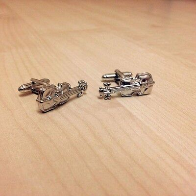 Violin / Cello Cufflinks For Shirt Suit Musician, Novelty, Gift, Present.