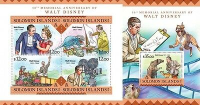 Z08 SLM16222ab SOLOMON ISLANDS 2016 Walt Disney MNH Set