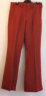 """SMALL, NEW, TAN BROWN, MENS 1970's FLAIRED PANTS. WAIST 32"""" / 82CM. """"VENTURE"""""""