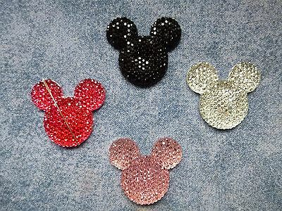 Mickey Mouse Glitter Needle Minder In Four Colour Choices Cross Stitch