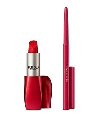 ��Kiko Kit Rossetto&matita 11 Frosted Red Edizione Limitata��