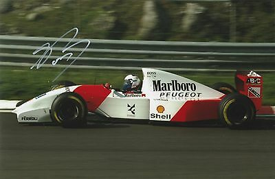 Alain Prost McLaren Original Hand Signed Photo 12x8 With COA
