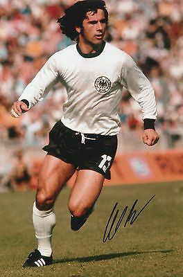 Gerd Muller Germany Original Hand Signed Photo 12x8 With COA