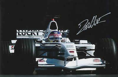 Jacques Villeneuve BAR Original Hand Signed Photo 12x8 With COA