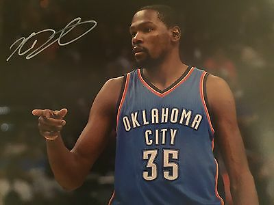 Kevin Durant Original Hand Signed Photo 12x8 With COA