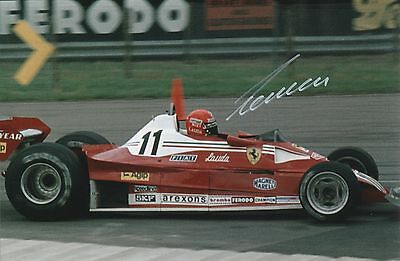 Niki Lauda Ferrari Original Hand Signed Photo 12x8 With COA