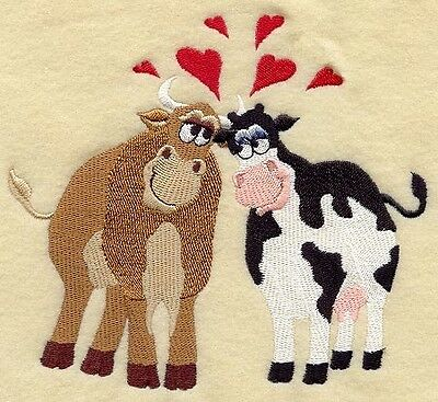 Finished Embroidery Love Cows