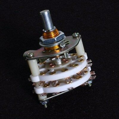 4P5T 4 pole 5 position / way Ceramic Rotary Switch