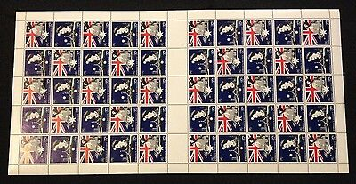Rare Sheet of 50 Not Folded MNH 1988 Joint Bicentennial Issue with UK 37c Stamps