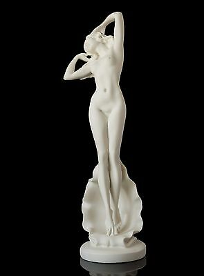 Birth of Venus Sexy Undressing Nude Girl Marble Statuette Naked Aphrodite Statue