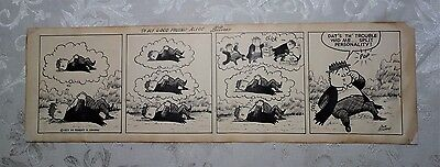 Vintage 1950's Era Comic Strip Cartoon Funny Pen and Ink Signed Bob Seevers 21.5