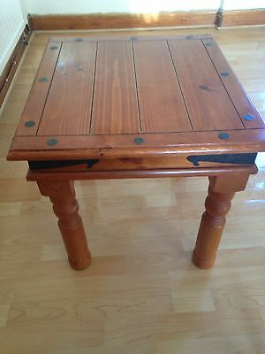 Oak Effect Occasional Table Size 50 Cm Square