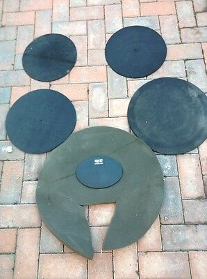 Free P&P. Set of QT Silencer Pads, Mats, Mutes for Drum Kit. Rock Sizes. SP4