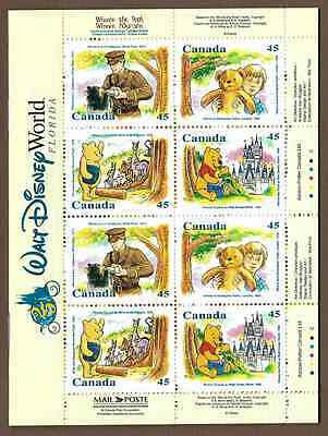 Canada Stamps - Booklet Pane of 16 - Winnie The Pooh #1621c (BK194) - MNH