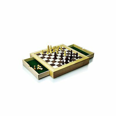 Wooden Traditional Style Chess Set Travel Edition Puzzle Game Toy Portable