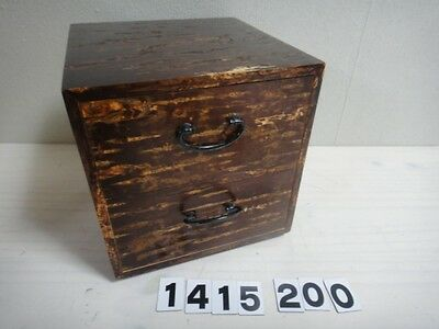 SALE Japanese Small Tansu Drawer Box Cherry Blossom Beautiful Wooden Grain