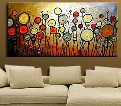 "24X48"" Modern Abstract Huge Wall Art Oil Painting On Canvas (No Framed)"