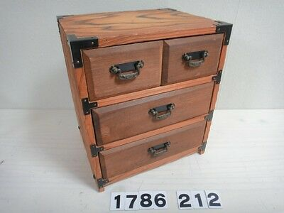 Japanese Small Tansu Drawer Chest Hikidashi Japan Traditional Cedar Pattern