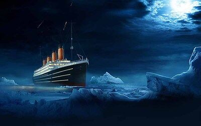 Modern Decoration Art Wall Eternal Titanic iceber Oil Painting Printed On Canvas