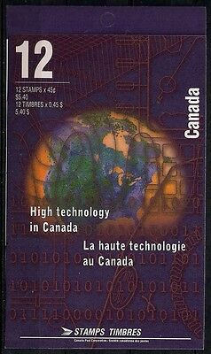 Canada - Booklet Pane of 12 - High Technology Industries #1598a (BK191) - MNH