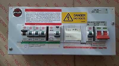 Wylex 10 Way Skeleton CCU Metal fuse-board with Main Switch RCD and breakers #1