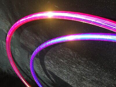 "Rainbow Dragon 30""/32""/34"" Polypro Dance HULA HOOP with Iridescent Galaxy Tape"