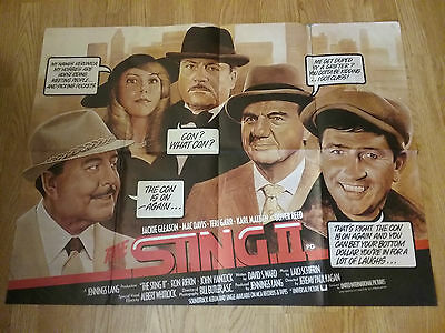The Sting 2 Oliver Reed Original Quad Film Movie Poster n paul newman