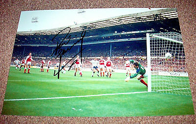 PAUL GASCOIGNE TOTTENHAM HOTSPUR HAND SIGNED PHOTO AUTHENTIC GENUINE + COA 12x8