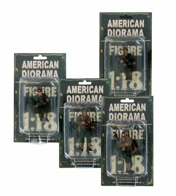 US Army WWII Soldier Bundle, American Diorama - Four 1/18 Scale Figurines