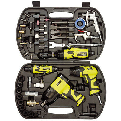 Draper 68pc Piece Storm Force Air Tool Kit Impact Wrench Ratchet Grinder Sockets