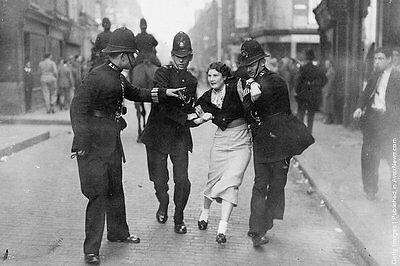 Photo Taken From A 1936 Image Of Police Arresting Demonstrator At Moseley Rally