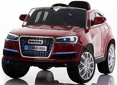 Kids Ride On Car AUDI Q7 12V XMX 805 Red Ride On Car With R/C  Battery Operated