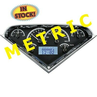 Dakota Digital 55-59 Chevy Pickup Gauge Kit Black/White (Metric) MHX-55C-PU-K-W