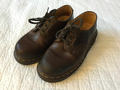 Dr Martens AirWair Shoes - Brown Leather - Youth/Kids Size 3