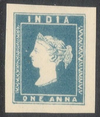INDIA INDIAN 1854 QV 1a THUILLIER Essay printed in single die XF !!