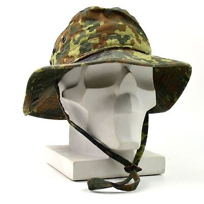 Original German Army boonie hat Military Flectarn Camouflage Germany summer cap