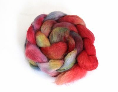 Shunklies Hand Dyed Massam Wool Combed Top 100g Mas10