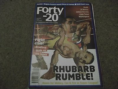 Forty 20 Rugby League Magazine April 2012 Perth St Helens Cape Town Workington