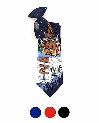 Boy's Santa Claus, North Pole Clip on Christmas Tie - BN4603