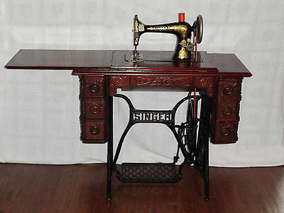 1902 Singer Treadle Sewing Machine Gingerbread Design (Pickup Only)