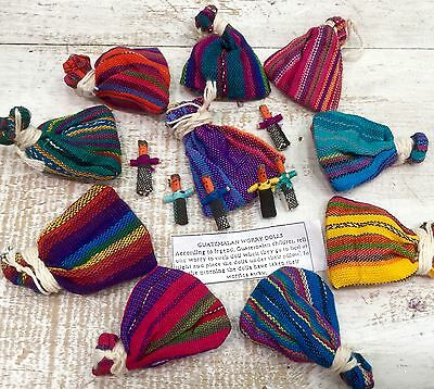Worry Dolls in Bags Wholesale of 12 Guatemalan Handmade Fair Trade Trouble Dolls