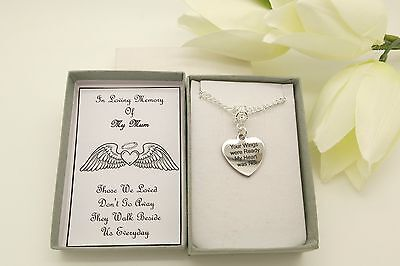 In Loving Memory Necklace.Your Wings Were Ready My Heart Was Not.Memorial