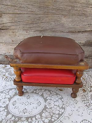 Vintage ethan allen MID-CENTURY STACKING Nesting OTTOMAN Footstool BENCHES